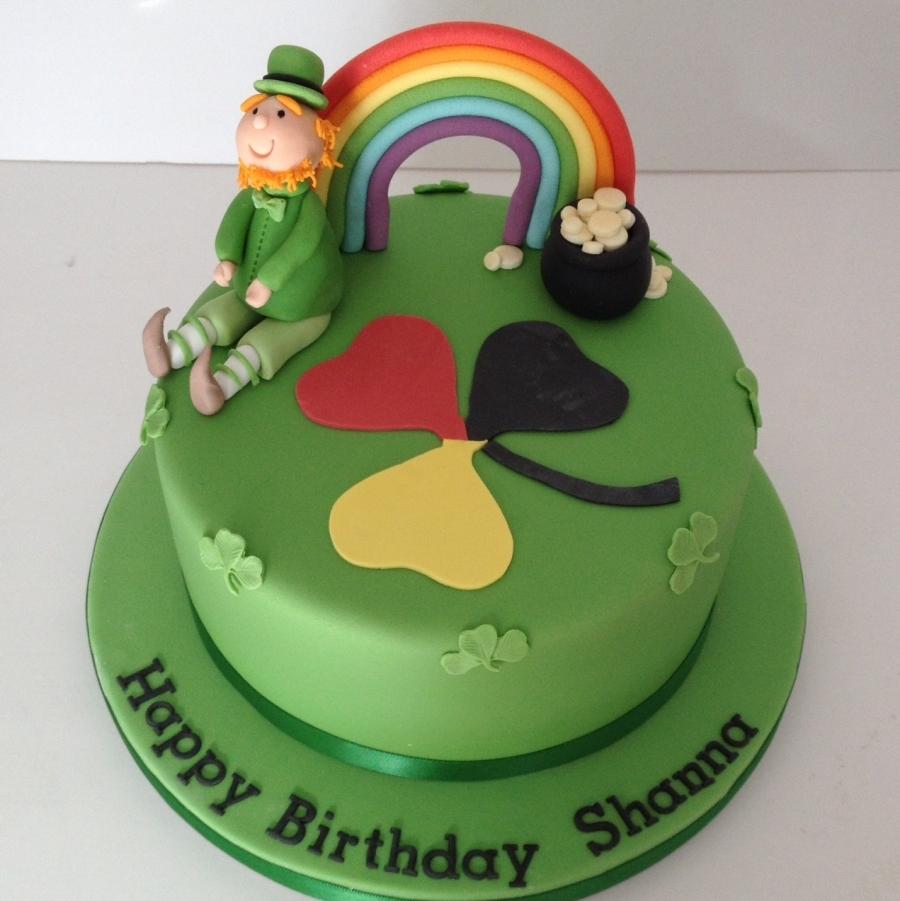 Leprechaun Amp Rainbow Cake
