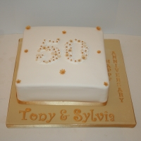 Golden wedding anniversary - number & flowers