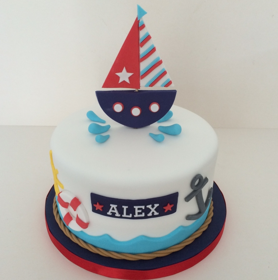 Nautical Theme Birthday Cake