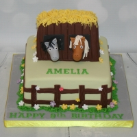 Small stables cake