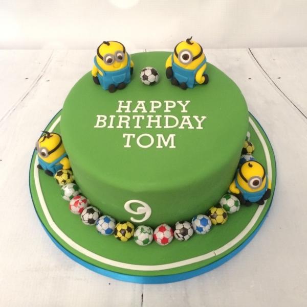 Minions Football Theme Cake