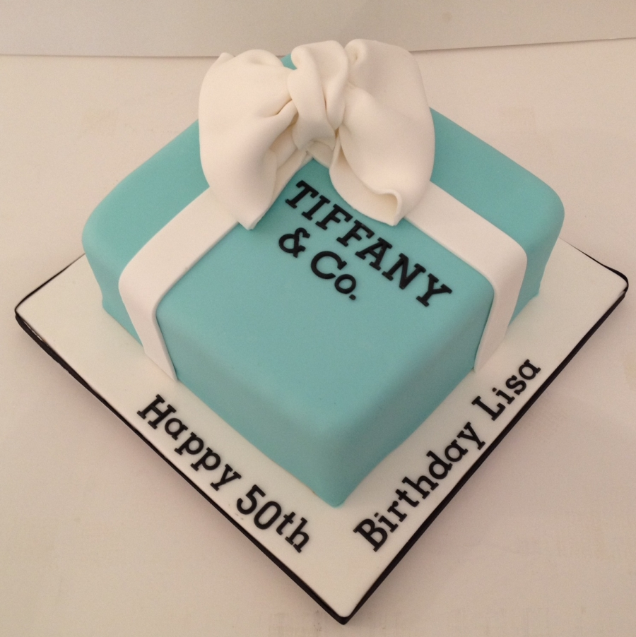 Fantastic Tiffany Box Birthday Cake Funny Birthday Cards Online Fluifree Goldxyz