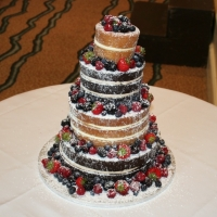 Chocolate & vanilla 4 tier naked cake