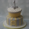 Yellow/Grey elephant baby shower cake