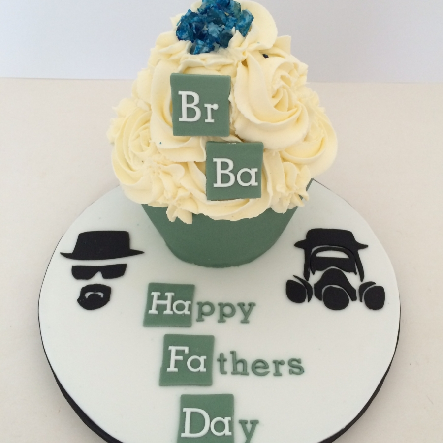 Brilliant Breaking Bad Baby Giant Cupcake Funny Birthday Cards Online Overcheapnameinfo