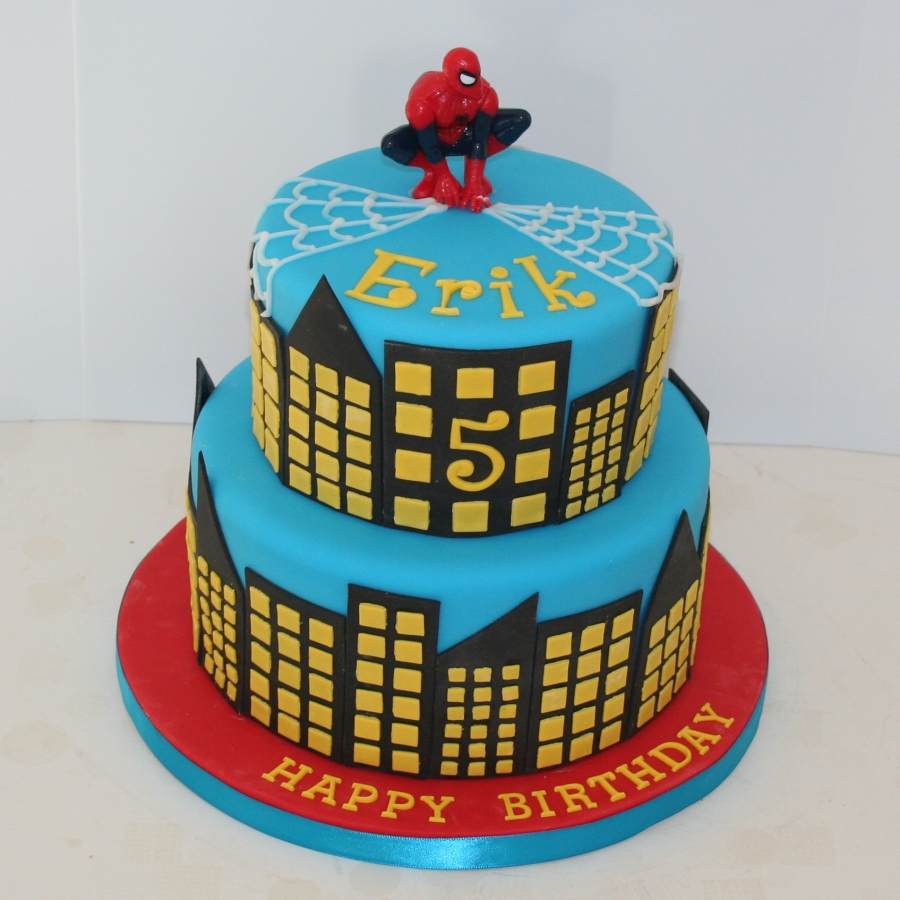 Spiderman Cake 2 Tier
