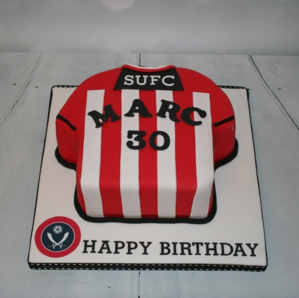 Sheffield United shirt cake - 30th birthday