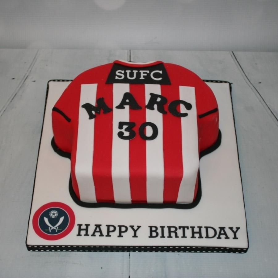 Sheffield United Shirt Cake 30th Birthday