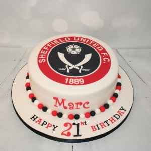 Sheffield United badge cake - 21st birthday