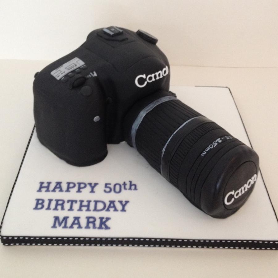Wondrous Canon Camera Cake Personalised Birthday Cards Vishlily Jamesorg