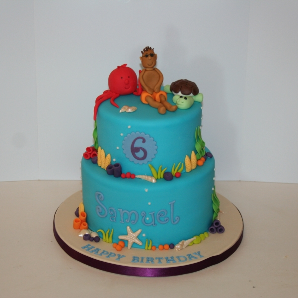 Swimming in the sea cake