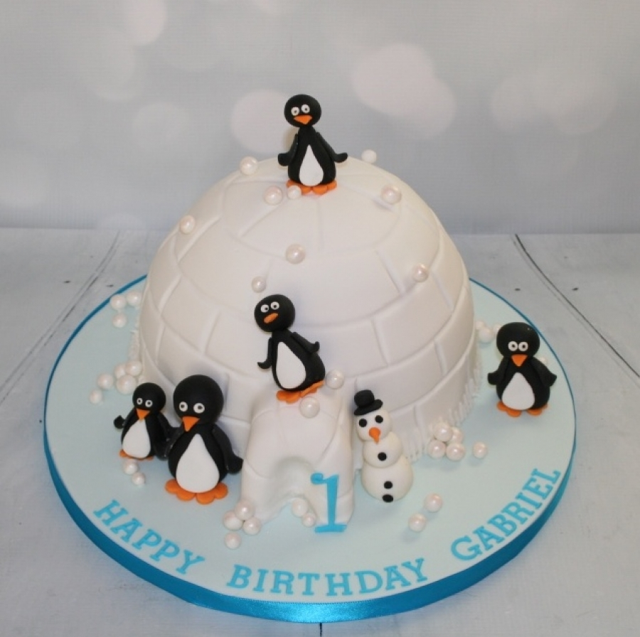 Penguin Igloo Cake