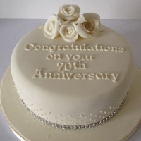 70th Wedding Anniversary cake