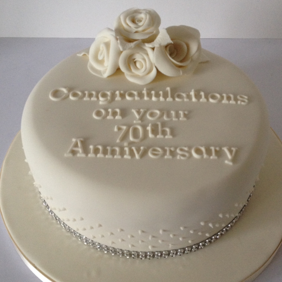 70th wedding anniversary cake for Anniversary cake decoration