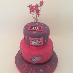 One Direction cake - pink/purple