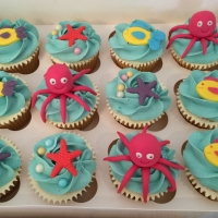 Under the sea theme cupcakes