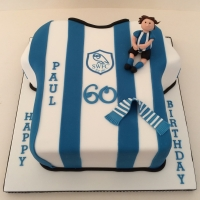 Sheffield Wednesday shirt cake (Gluten Free)