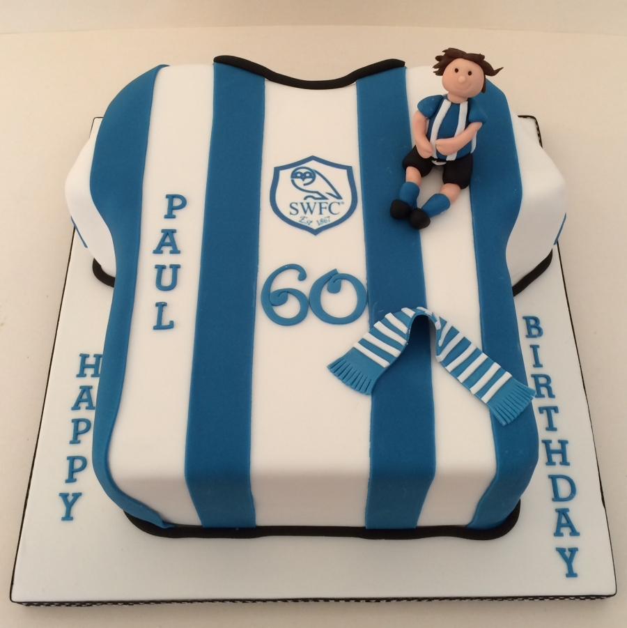 Sheffield Wednesday Shirt Cake Gluten Free