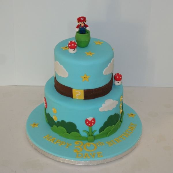 Two tier Super Mario cake
