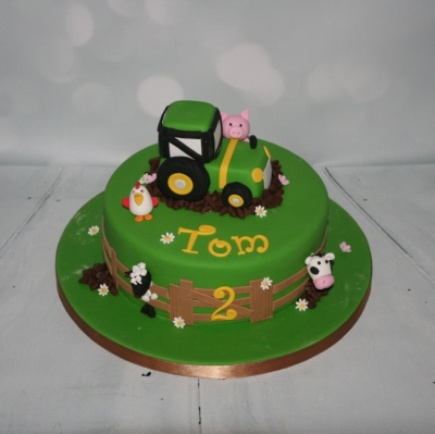 Tractor Farmyard Animals Cake