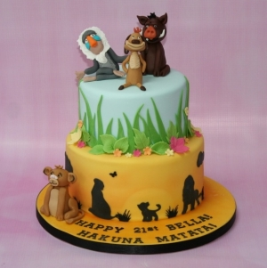 Lion King 2 tier cake