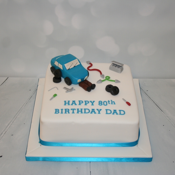 80th birthday Mechanic cake