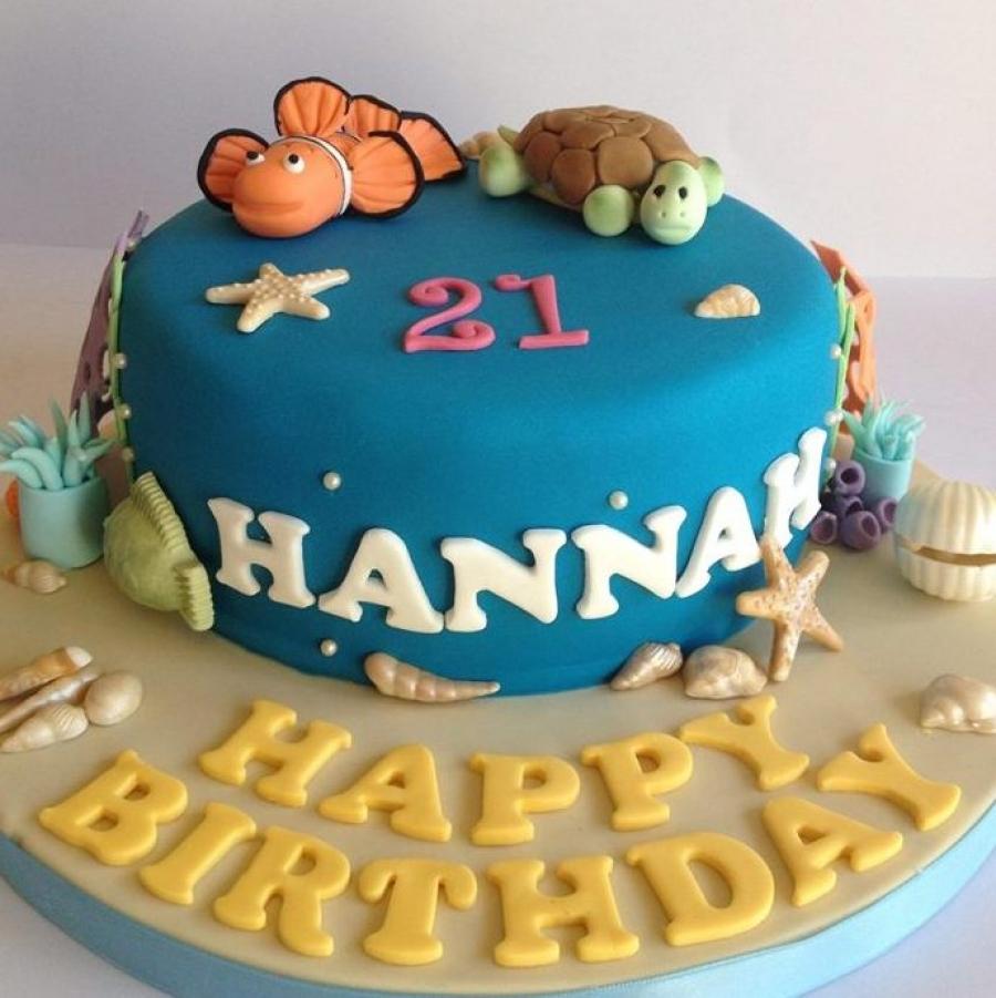 Marine life cake