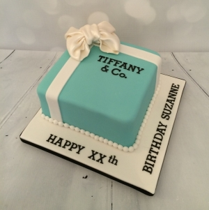 Small Tiffany box cake for a ?? birthday