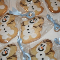 Olaf wedding favour cookies