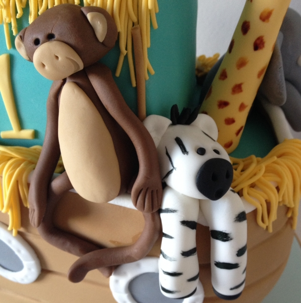 Noah's Ark - monkey & zebra close up