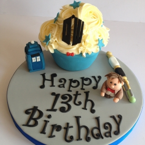 Dr Who baby giant cupcake
