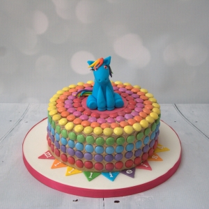 My Little Pony Smartie cake