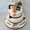 2 tier shopping themed 50th birthday