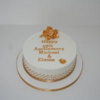 Royal iced Golden Wedding fruit cake