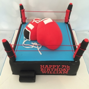 Large boxing ring cake