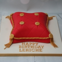 Red/Gold pillow cake