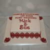 Square Ruby Wedding cake
