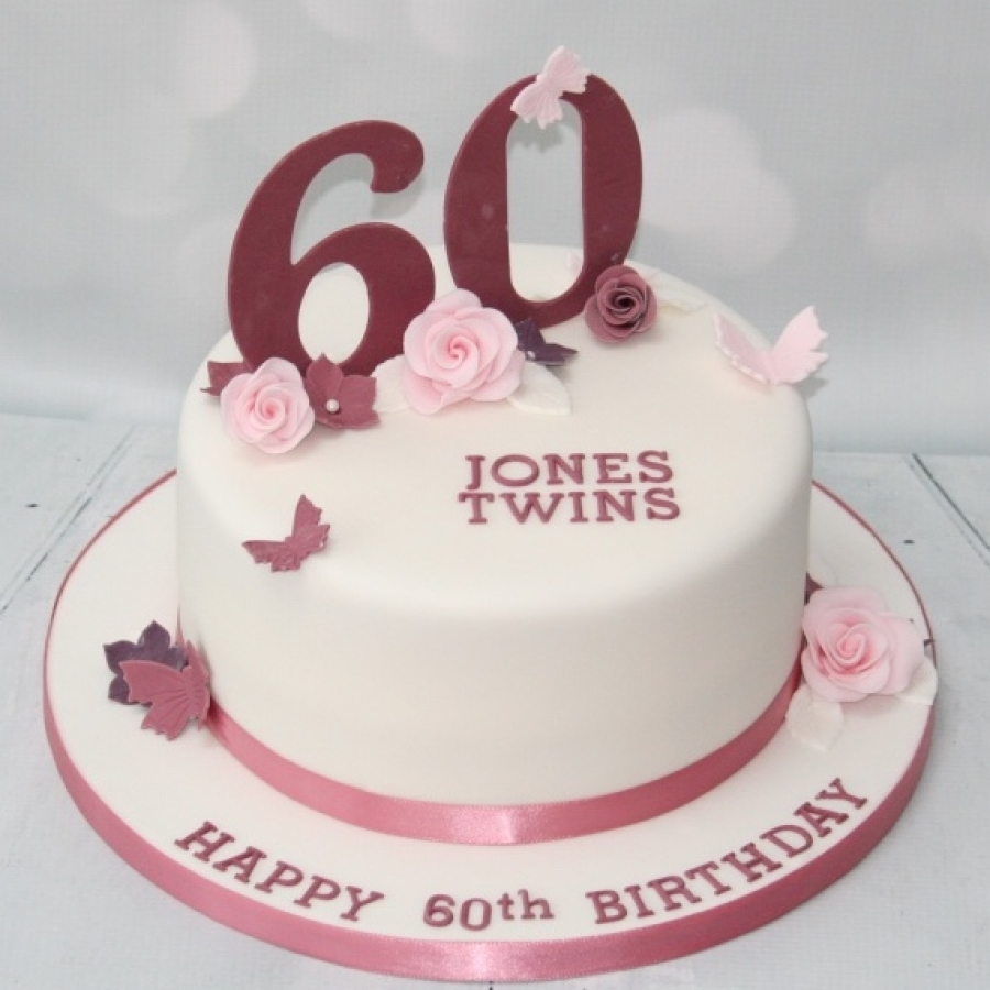 Fantastic 60Th Birthday Cake For Twins Personalised Birthday Cards Paralily Jamesorg