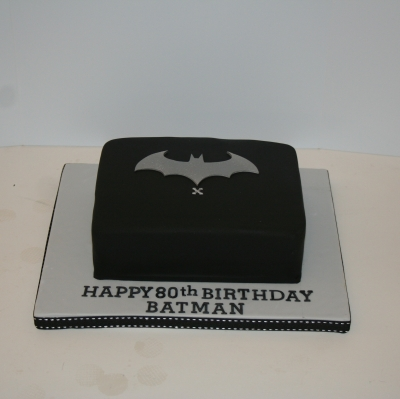 Rectangular Batman Logo Cake