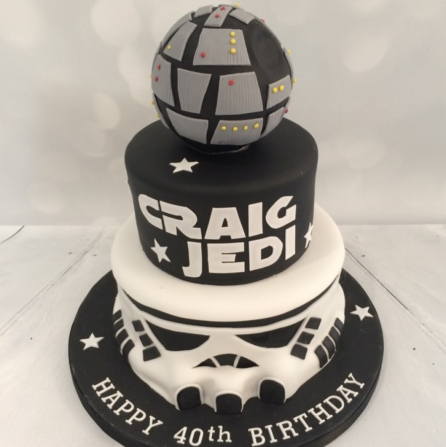 Fine Star Wars Storm Trooper Cake Personalised Birthday Cards Paralily Jamesorg