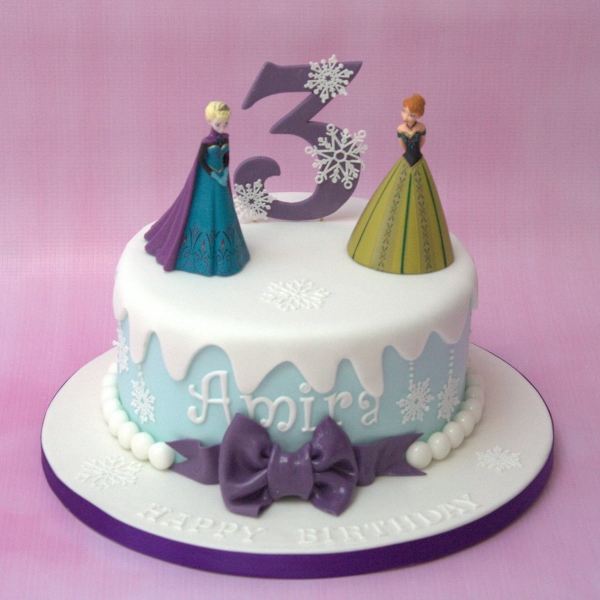 Frozen theme cake - purple colours
