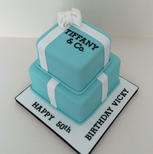 Two tier Tiffany box cake 2