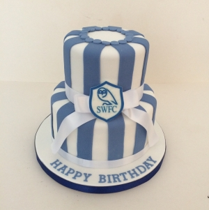Sheffield Wednesday 2 tier cake