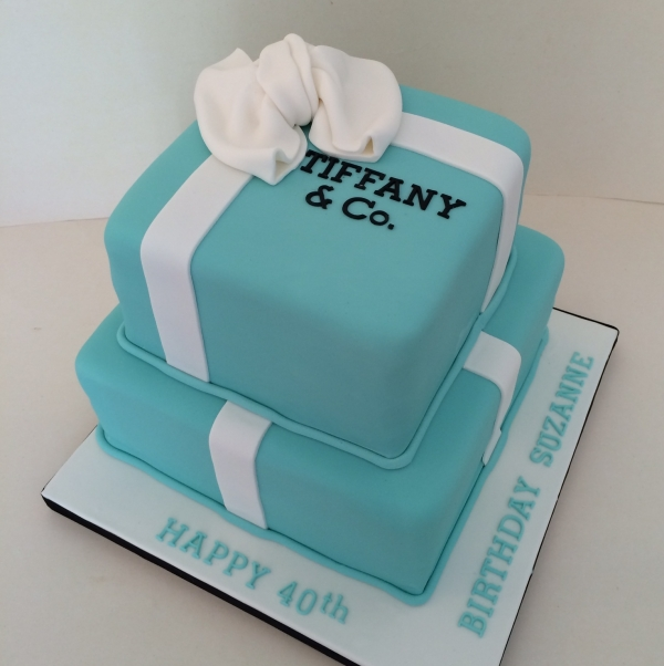 2-tier Tiffany Box cake