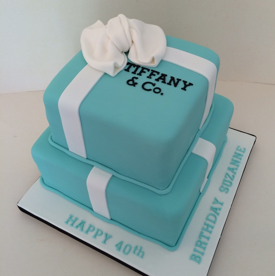 2 Tier Tiffany Box Cake