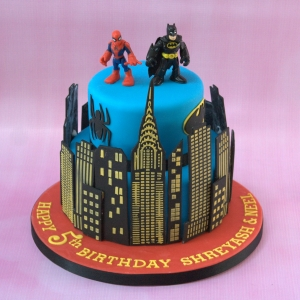 2 tier superhero - Batman & Spiderman