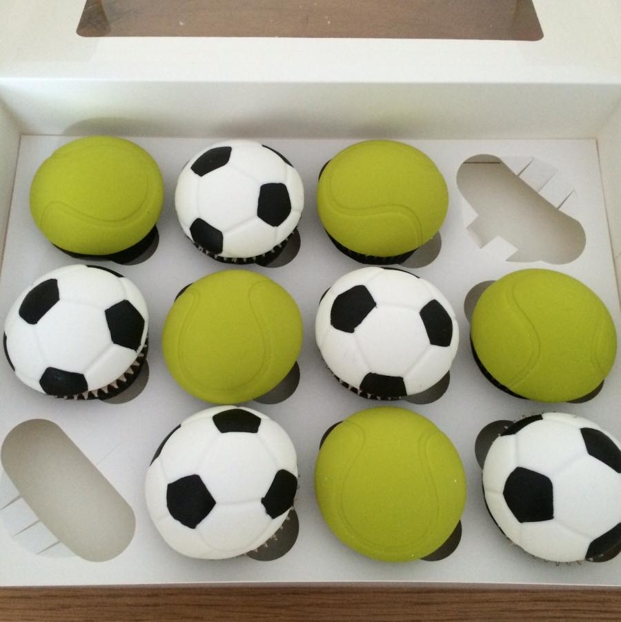 Tennis Amp Football Cupcakes