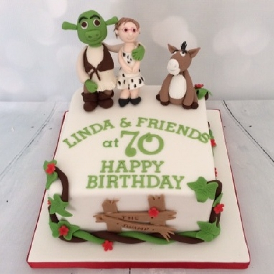 Excellent Shrek Themed Cake Funny Birthday Cards Online Elaedamsfinfo