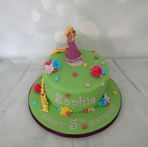 Rapunzel cake - 5th birthday
