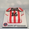 Sheffield United shirt cake - 16th birthday